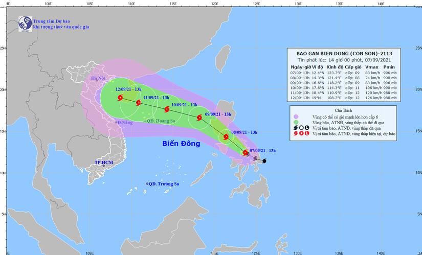 Miền Bắc mưa to nhiều ngày, bão Conson giật cấp 11 sắp vào biển Đông