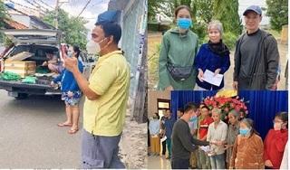 Giữa ồn ào sao kê, Quyền Linh mặc áo trái vác gạo giúp dân nghèo, Lý Hải 10 năm âm thầm thiện nguyện