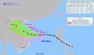 Bão số 5 Côn Sơn hướng thẳng Thanh Hoá - Quảng Ngãi, miền Trung sắp hứng mưa lớn