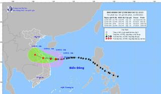 Bão số 5 giật cấp 12, cách bờ biển Quảng Trị - Quảng Nam khoảng 230km