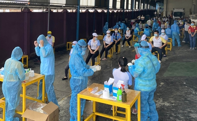 Nữ công nhân làm việc tại KCN Hòa Khánh dương tính Covid-19