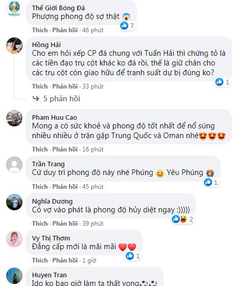 Fan sướng rơn khi Công Phượng liên tục ghi bàn trên tuyển Việt Nam