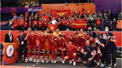 Tuyển futsal Việt Nam xếp trên Anh, Đức, Mỹ trên BXH FIFA