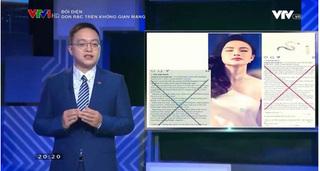 """Loạt sao Việt bị VTV """"điểm danh"""" vì đưa tin giả, chửi tục trên mạng xã hội"""