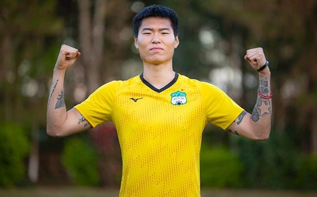 Trung vệ Kim Dong Su tái ký hợp đồng với HAGL