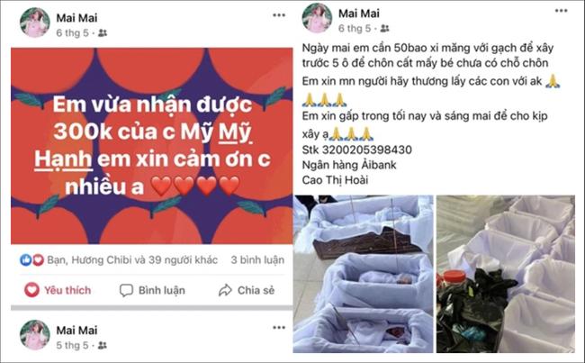Cô gái lập nick ảo, chiếm đoạt tiền ủng hộ mai táng thai nhi xấu số