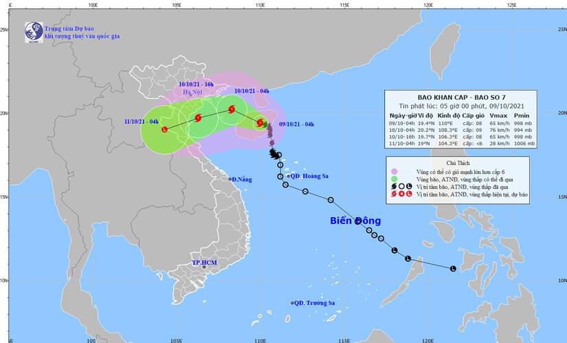 Bão số 7 giật cấp 11, gây mưa lớn từ Thanh Hóa đến Quảng Bình