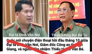 Khởi tố vụ án liên quan việc cắt ghép file ghi âm của Giám đốc Công an tỉnh An Giang
