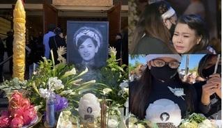 Nghẹn ngào nước mắt trong tang lễ ca sĩ Phi Nhung ở Mỹ
