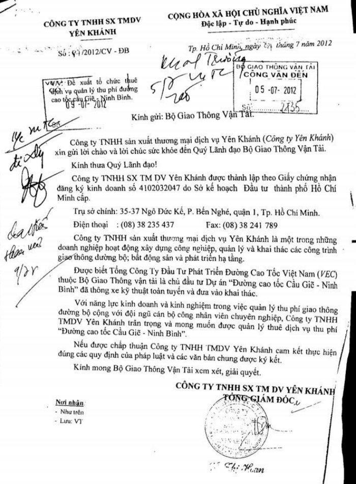 Điều tra Công ty Yên Khánh thu phí cao tốc Cầu Giẽ  Ninh Bình do VEC quản lý