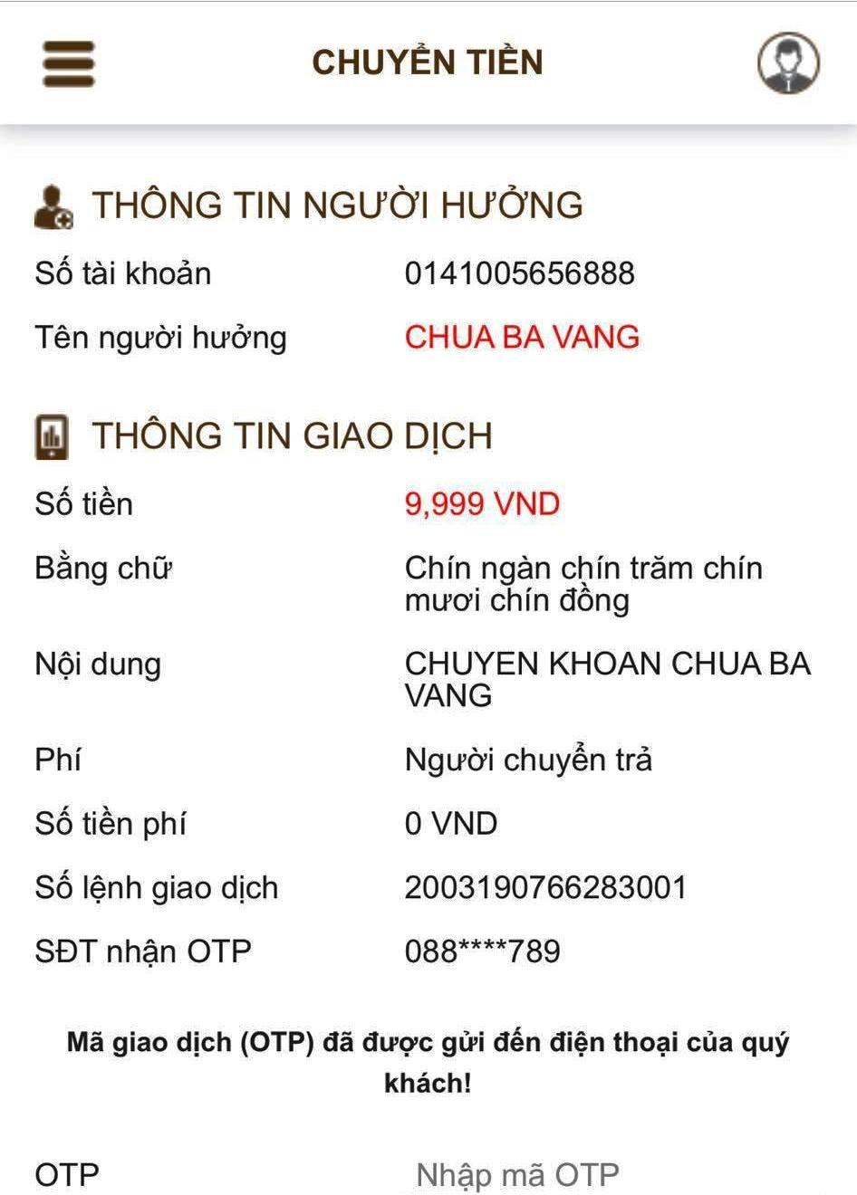 Ngân hàng Vietcombank chi nhánh Quảng Ninh nếu thực sự có mở tài khoản cho chùa Ba Vàng cũng không quan trọng, quan trọng là phải có sao kê để thấy rõ tài khoản Chùa Ba Vàng do ai làm đại diện pháp nhân, thu tiền như thế nào, sử dụng tiền thu được vào việc gì.