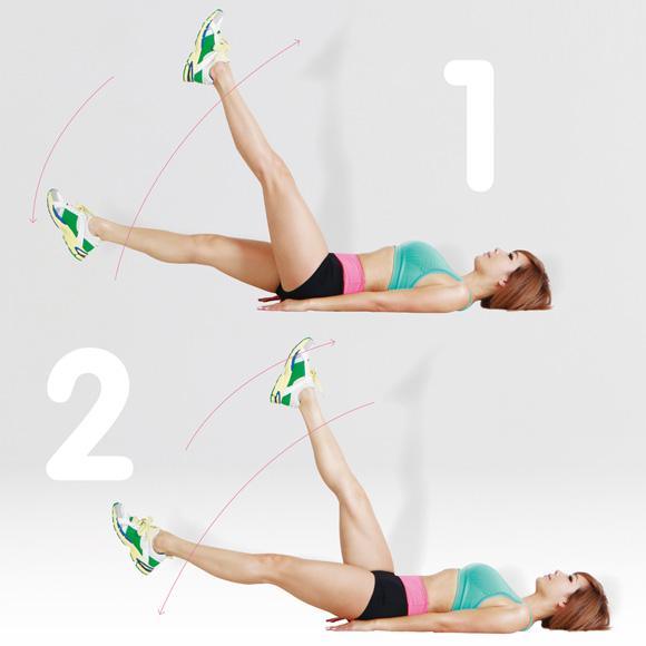 Bài tập nhỏ bụng kết hợp giữa động tác chân và bụng