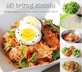 Công thức làm món mỳ trộn kim chi kiểu Hàn độc đáo