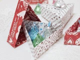 Cách làm nắp hộp quà hình tam giác đơn giản, tiện dụng
